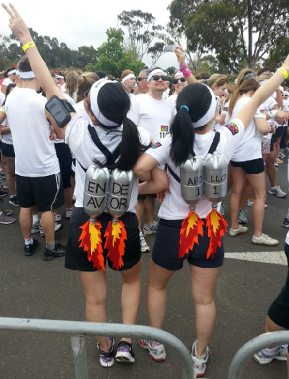 Having fun at the Colour Run in Melbourne – we had a blast!